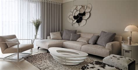 Picturesque Modern Living Room With Sectional Beige Couch Pictures Of Kitchen Floor Tiles Small Designs With Islands Big W Appliances Industrial Pendant Lighting For Grey Recessed Design Pottery Barn Funky Lights