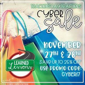 #CYBER17 TPT SALE, 25% OFF Learned Lessons Teaching ...