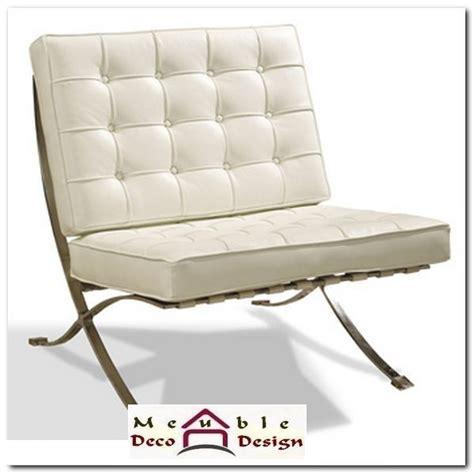 fauteuil cuir blanc design