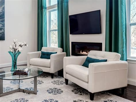 grey brown and turquoise living room photo page hgtv