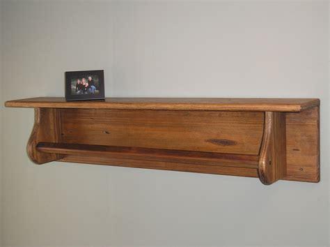 reclaimed wood shelf with towel bar tc115 3
