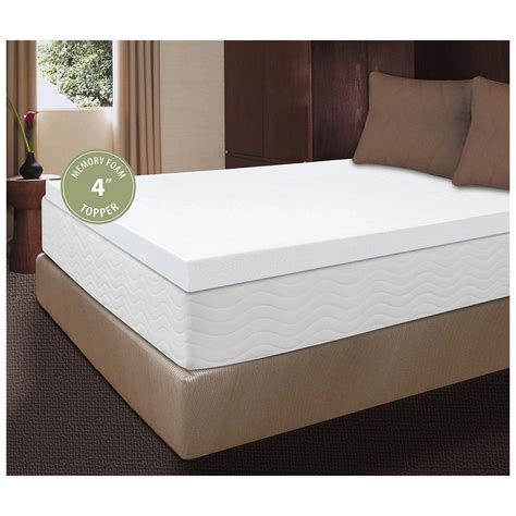 visco 4 quot memory foam mattress topper 227171 mattress