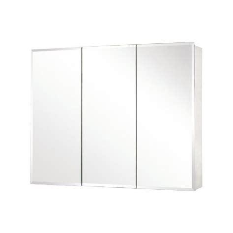 pegasus sp4590 31 inch by 48 inch tri view beveled mirror medicine cabinet clear office store