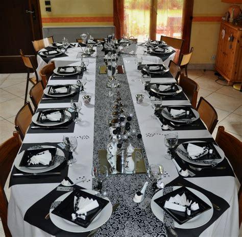 superior deco table noir et argent 9 table de f 234 te et blanche helvia co