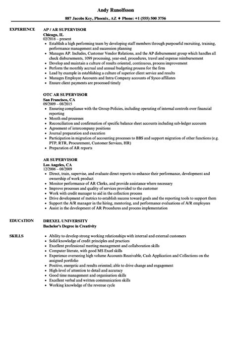 Ar Supervisor Resume Samples  Velvet Jobs. Call Center Resume Skills. Example Of A Resume Summary. Combination Resume Template. Sample Resume For Supply Chain Executive. Functional Resume Stay At Home Mom Examples. How Long Resume. Personal Profile Format In Resume. Resume Examples For College Applications