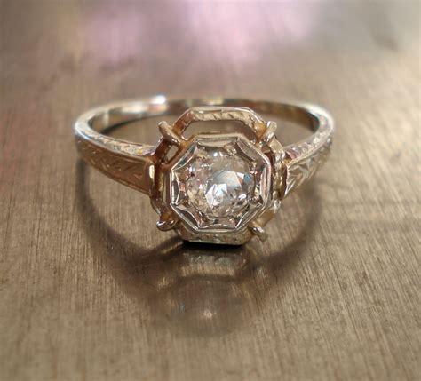 antique deco engagement ring