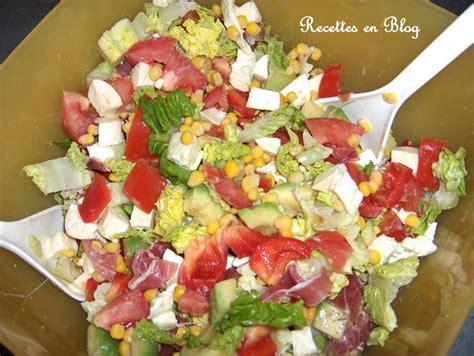 salade pour le soir r 233 gime pauvre en calories