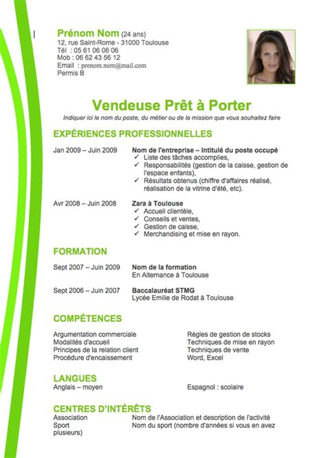 exemple cv vendeuse cv anonyme