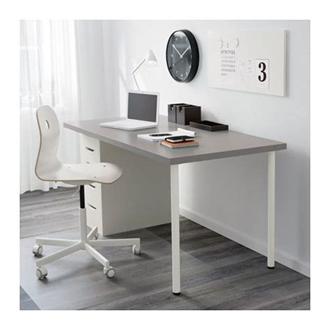 linnmon alex table grey white grey white 150x75 cm space alex o loughlin