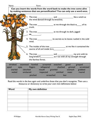 Personification  Set Of 16 Worksheets By  Uk Teaching Resources Tes