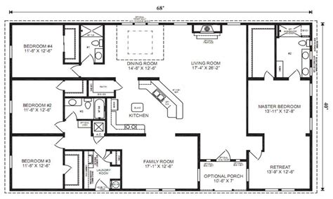 bedroom bath house plans square with small 4