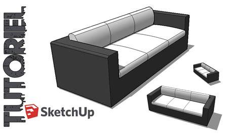 sketchup tutoriel dessin canap 233 3 places