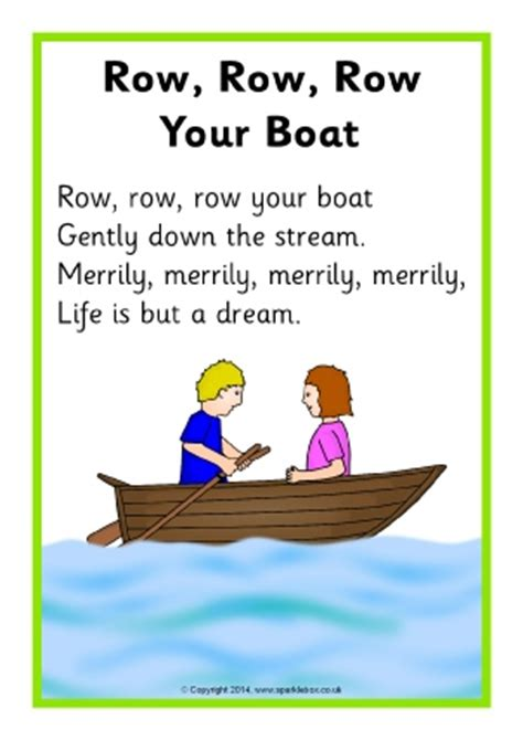 Youtube Row Your Boat Nursery Rhyme by Row Your Boat Preschool Worksheets Row Best Free