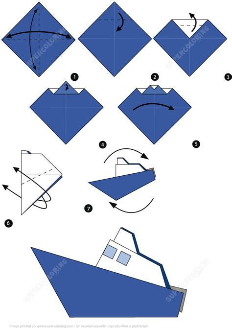 Origami Super Boat by How To Make An Origami Boat Step By Step Instructions