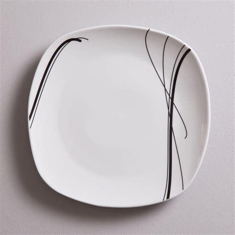 service de table carr 233 30 pi 232 ces en porcelaine zigzag noir