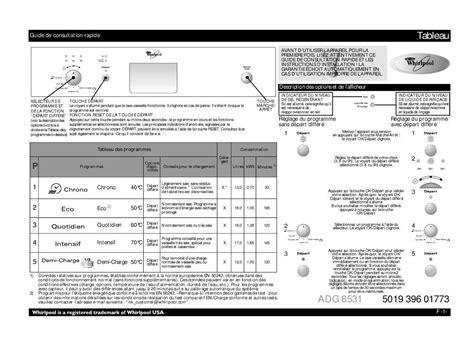 mode d emploi lave vaisselle whirlpool adg 8531 wh trouver une solution 224 un probl 232 me whirlpool