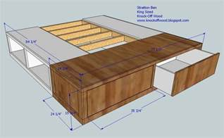 diy king size bed frame plans platform woodworking