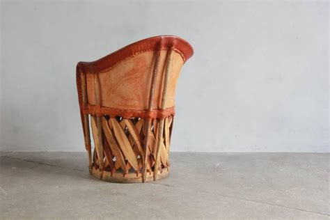 set of four mexican equipale wood and leather chairs for sale at 1stdibs
