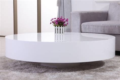 table basse ronde laqu 233 e belius design