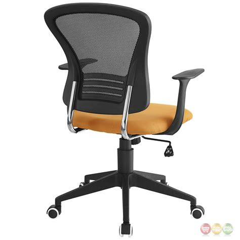 poise modern ergonomic mesh back office chair with lumbar support orange