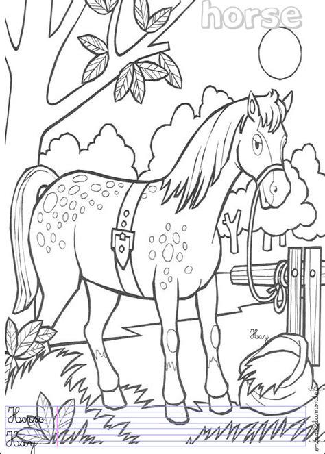 cheval de profil coloriage a imprimer