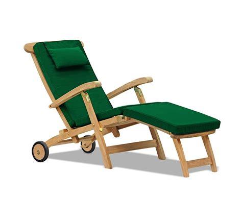 halo teak steamer chair with wheels brass fittings cushion