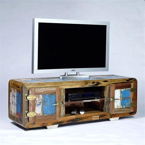 meuble tv vintage 2 portes bois de bateau recycl 233 pas cher en vente chez origin s meubles