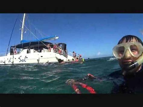 Catamaran Boat Cuba by 2014 Cuba Catamaran Boat Trip To White Sand Island Youtube