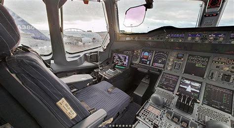 airbus 380 a380 tour of the flight deck of an airbus 380 airbus a380 photos info