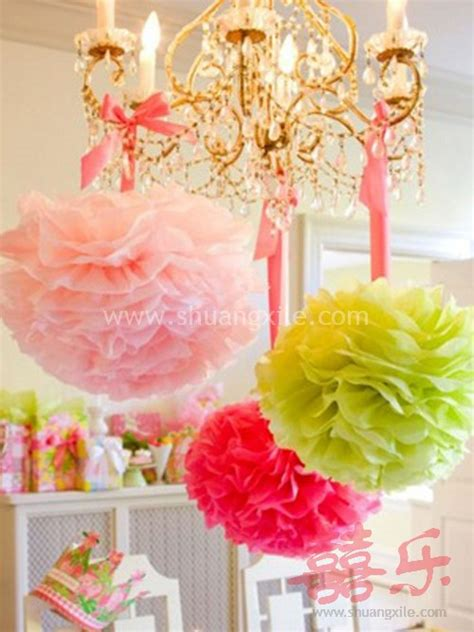 paper pom pom decor many colors available 50 photo props decorations wedding
