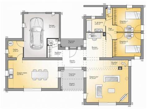 plans de maison rdc du mod 232 le bioclima maison moderne 224 233 tage de 160m2 2 chambres 1 suite