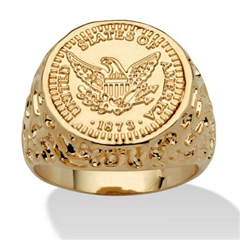 Men's 14k Goldplated American Eagle Coin Replica Nugget. Hunger Games Wedding Rings. Engraved Wedding Rings. 2in1 Engagement Rings. Lovely Wedding Engagement Rings. Green Amethyst Rings. 1 Gram Rings. Barely Engagement Rings. 35k Wedding Rings