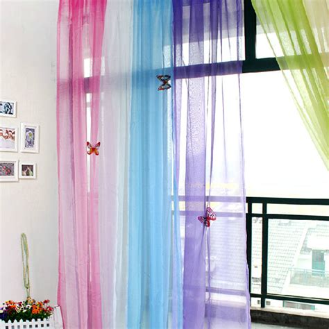 curtains translucent sheer tulle voile organdy curtain