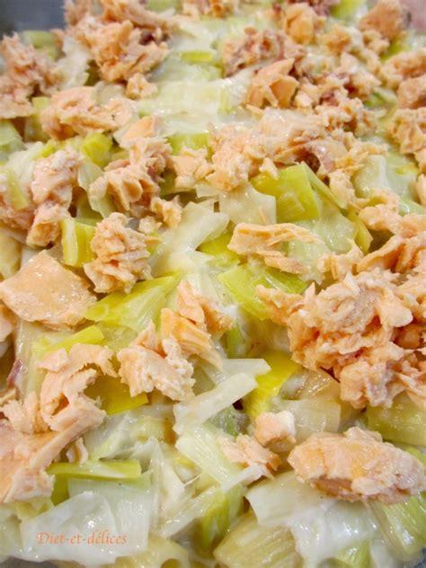 recette gratin l 233 ger de p 226 tes aux poireaux et au saumon