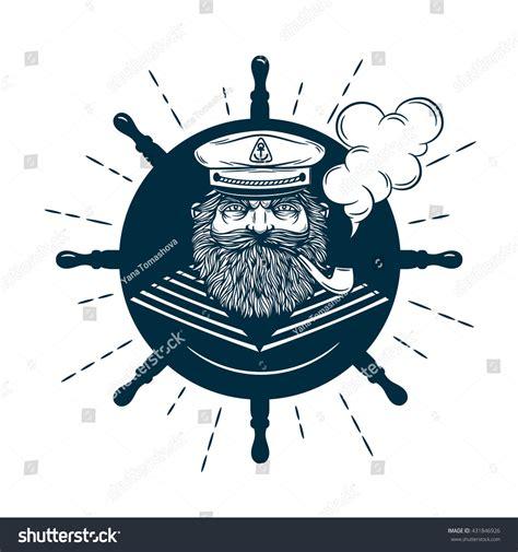 Monochrome Nautical Marine Image Logos Captain Stock Vector 431846926 Shutterstock