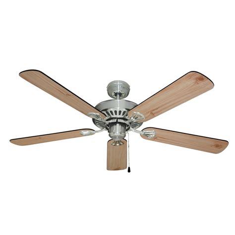 mercator 1300mm hayman ceiling fan brushed chrome