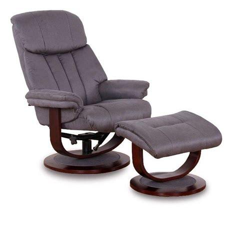 affinity fauteuil relax avec repose pieds microfibre boa gris fonce