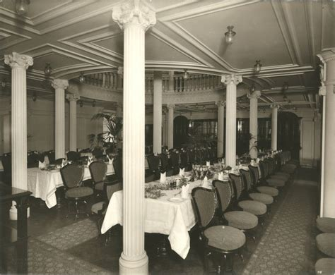 Interior Of The Lusitania, 1905-1907 Second Class Dining Vintage Living Room Design Hutch Organizing A Red Walls Charcoal Furniture With Grey Sofa Rugs Ideas Pictures For