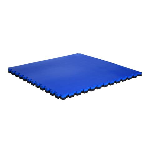 large interlocking mats 40mm blue black soft floor uk