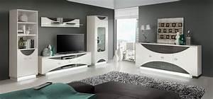 Wohnwand Weiß Hochglanz : wohnwand anbauwand sideboard weiss hochglanz eiche grau woody 77 00507 ebay ~ Markanthonyermac.com Haus und Dekorationen