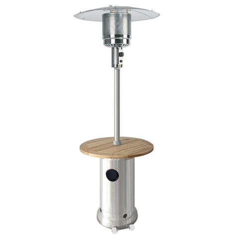 shop garden treasures 41 000 btu stainless steel liquid propane patio heater at lowes