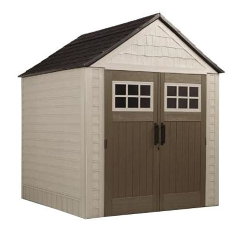 rubbermaid garden sheds home depot rubbermaid 7 ft x 7 ft big max storage shed 1887154