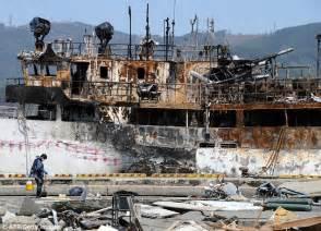 Earthquake Fire Boat by Tsunami Evacuate Massive 7 4 Magnitude Earthquake