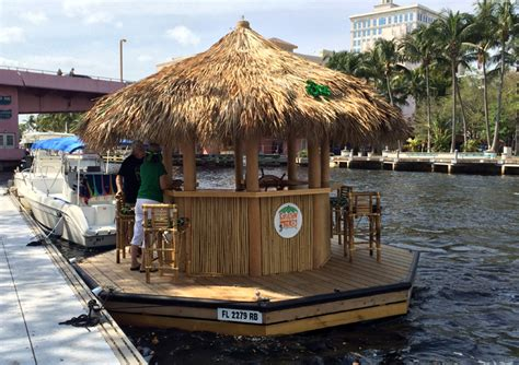 Tiki Party Boat Miami by This Floating Tiki Bar From Cruisin Tiki Has Been Boating