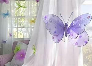 Kinderzimmer Gardinen Schmetterling : 30 gardinendekoration beispiele die fenster kreativ verkleiden vorhang und wanddekoration ~ Markanthonyermac.com Haus und Dekorationen