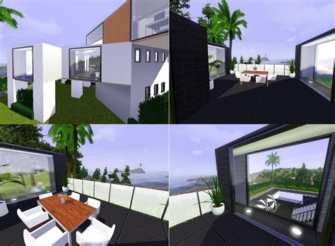 mod the sims inspiration living modern mod the sims ozonemania inspired modern home