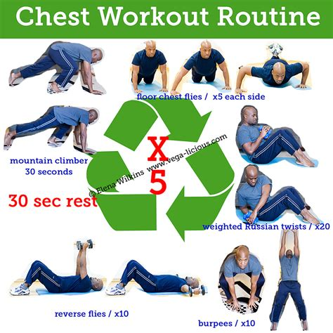 at home chest exercises 15 minute chest workout routine vegalicious