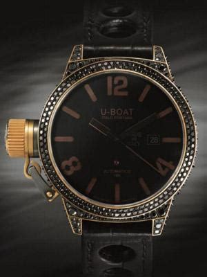 U Boat Watch With Diamonds by U Boat Bespoke Classico With Black Diamonds Watch Review