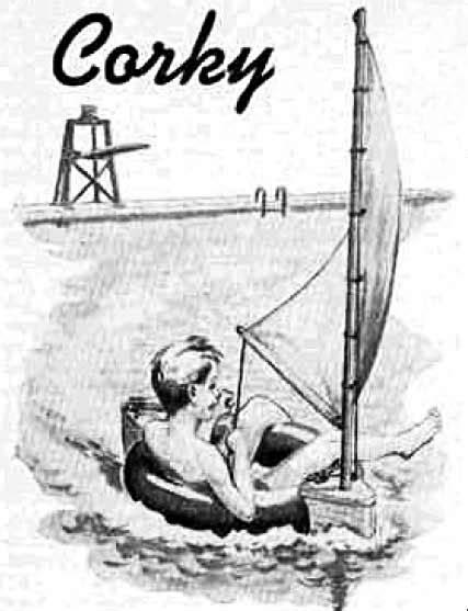 Inner Tube Sailboat by Christine Demerchant Inner Tube Boat Corky