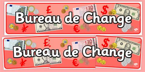 bureau de change display banner travel travel